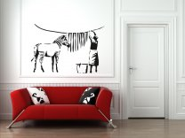 Banksy Style Washed Zebra Stripes - Large Wall Sticker