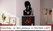 Banksy Style Crying Terrorist - Large Art Decoration