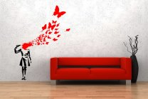 Banksy Style Suicide Butterfly Girl - XL Enhanced edition 165cm x 230cm