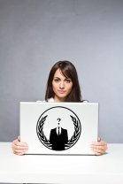Anonymous Crest ANON Globe Suit  - Vinyl Car / Laptop / Wall Decal