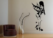 Banksy Style A Tribute To Amy Winehouse - Large Vinyl Wall Sticker