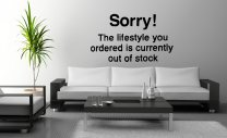 Banksy ' Sorry! The lifestyle you ordered is currently out of stock ' - Vinyl Wall Quote