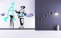 Banksy ' Vandalism Is Art ' Painter - Colourful Wall Decor