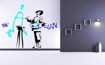 Banksy ' Vandalism Is Art ' Painter - Colourful Wall Decor