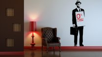 Banksy ' 0% Interest In People ' - Large Wall Sticker