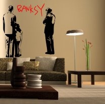 Banksy Looking At The Art Wall Sticker