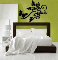 Lovely Flowers with Butterfly wall decor