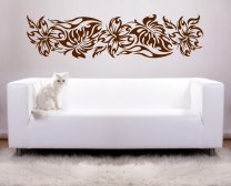 Fire Flowers Wall Art Sticker Transfer