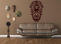 Ancient African Mask - Exotic Wall Decal