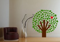 Heart Tree - Lovely Colourful Wall Decoration Decal