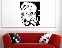 Portrait Of Albert Einstein - Large Vinyl Decal Sticker