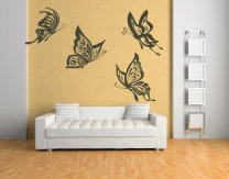 4 Huge Butterflies - Vinyl Wall Stickers