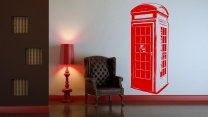 Phone Booth - Large Vinyl Wall Sticker