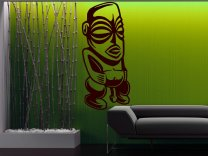 Aztec Statue / Ancient God Of Sex - Large Wall Sticker
