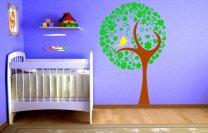 Lovely Tree Bird Flower Kids Wall Stickers