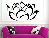 Modern Lotus Blossom Flower  Wall Art Sticker Decal