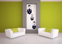 Set of Matryoshka Dolls Wall Sticker Decal