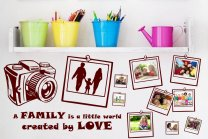 Wall Photo Album Sticker - 3 Styles LOVE, FRIENDSHIP, FAMILY - Memories on your wall!
