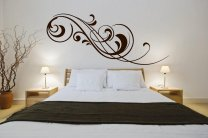 Classy-floral-design-wall-stickers