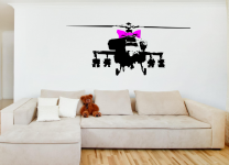 Banksy's ' Helicopter with a ribbon '