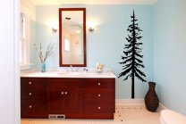 Wild Pine Tree Wall Decal