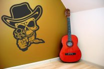 Skull-With-Gun-Wall-Sticker