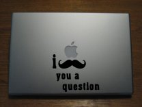 Laptop Sticker - I Mustache You a Question