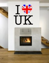 I love UK Wall Sticker
