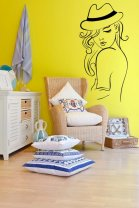 Girl in the hat - lovely wall decoration