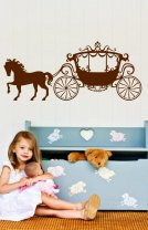 Princess-Carriage-Sticker-On-The-Wall