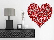 Floral Heart Decal Sticker