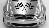 Checkered-Flags-Beautiful-Sticker