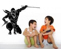 Ninja-Warrior-Wall-Sticker