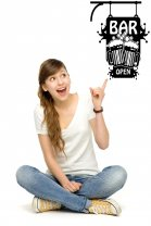 Bar Open Wall Decal