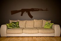 AK47 Rifle Beautiful Wall Sticker