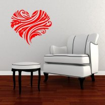 Charming Floral Heart Wall Art