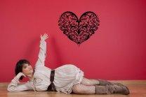Lovely Heart Beautiful Wall Pattern