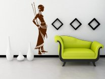 African Masai Warrior - Exotic Wall Sticker