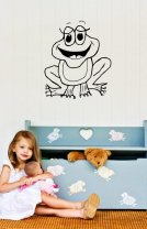 Cartoon Frog Kids Room Sticker