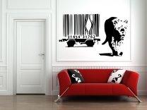 Banksy Style Barcode Leopard - Large Vinyl Sticker