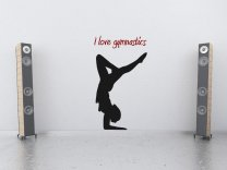 I love gymnastics Wall Sticker VERSION 1