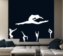 Set of gymnasts decals