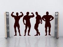 Set  of Bodybuilders Silhouettes