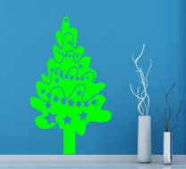 Decorated Christmas Tree Decal