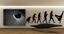 Break Dance Evolution Beautiful Wall Sticker