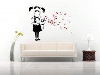 Banksy Gas Mask Girl Enhanced LARGE Version