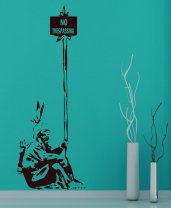 "Banksy - ""No trespassing"" Indian Decal"