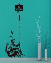 Banksy - No trespassing Indian Decal