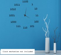 Cool Binary Clock Background - Wall Sticker