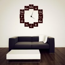 Chemistry Geeks Wall Sticker Clock Background